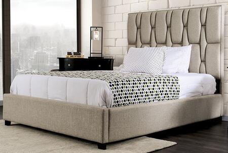 Furniture of America Deirdre CM7203BED Bed Beige, 1