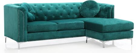 Glory Furniture Pompano G895BSC Sectional Sofa Green, G895BSC Main Image