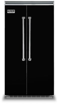 Viking 5 Series VCSB5423BK Side-By-Side Refrigerator Black, In Black