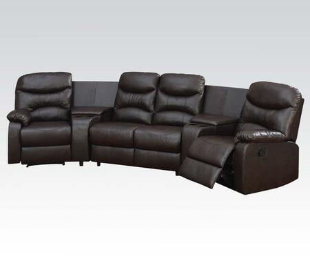 Acme Furniture Spokane 50110 Sectional Sofa Brown, 1