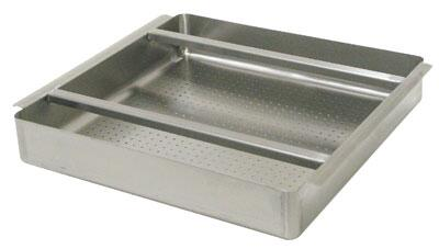 Advance Tabco  DTA100X Commercial Dish Washing Accessory Stainless Steel, Pre-Rinse Basket with Welded Slide Bar