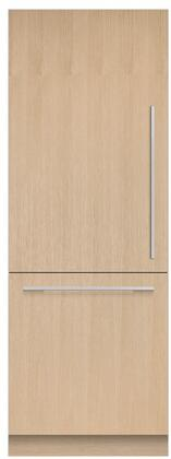 """RS3084WLU1 30"""" Integrated Series Panel Ready Column Bottom Freezer Refrigerator with 15.9 cu. ft. Capacity Variable Temperature Zone ActiveSmart"""