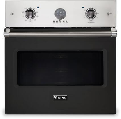 Viking 5 Series VSOE530BK Single Wall Oven Black, Front view
