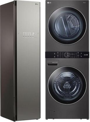 LG  1329692 Washer & Dryer Set Black, Main image