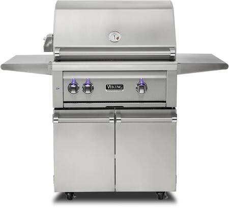 VQGFS5301NSS 30″ Freestanding Natural Gas Grill and Cart with ProSear Burner and Rotisserie  in Stainless