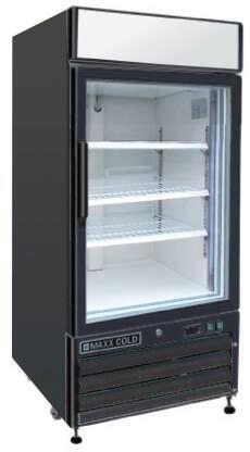 Maxx Cold  MXM112RB Display and Merchandising Refrigerator Black, Main Image