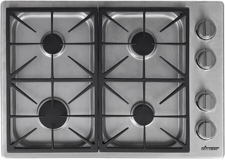 """Dacor Heritage HDCT304GSNG Gas Cooktop Stainless Steel, HDCT304GS/NG 30"""" Heritage Series Dual Natural Gas Cooktop"""