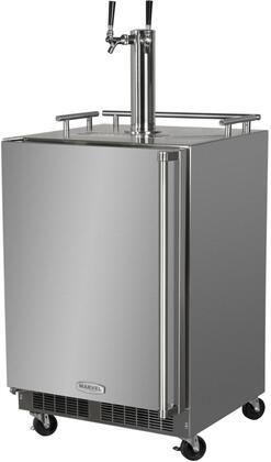 MO24BNSMLS 24″ Mobile Outdoor Beer Dispenser with 5.7 cu. ft. Capacity  Dynamic Cooling Technology  Marvel Prime Controls and Door Lock in Stainless