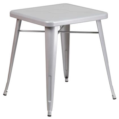 Flash Furniture CH3133029SILGG Outdoor Patio Table Silver, 1