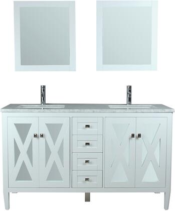 Reflection Collection MTD-7160W 60″ Double Sink Bathroom Vanity Set in