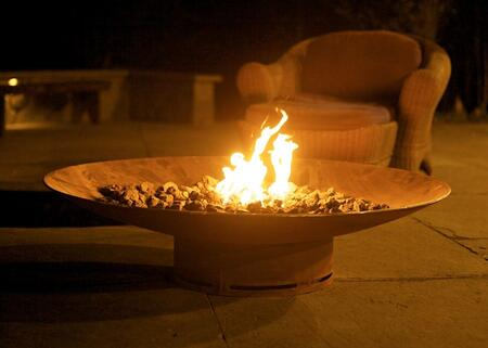 ASIA 48-FPA-MLS120-NG 48″ Fire Pit with 120K BTU Brass Burner  and Match Lit Ignition System – Natural