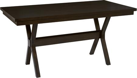 Trusses Collection D896-12 72″ Counter Table with Trestle Style Base and Clipped Corners in Espresso