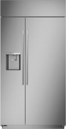 Monogram  ZISS420DNSS Side-By-Side Refrigerator Stainless Steel, ZISS420DNSS Shown with Minimalist Handles