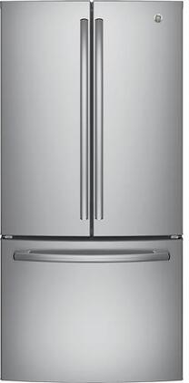"""GE GWE19JSLSS 33"""" Counter Depth French Door Refrigerator with 18.6 cu. ft. Total Capacity in Stainless Steel"""