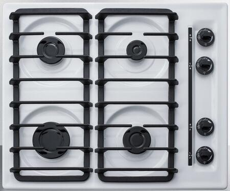 Summit  WTL033S Gas Cooktop White, WTL033S Gas Cooktop