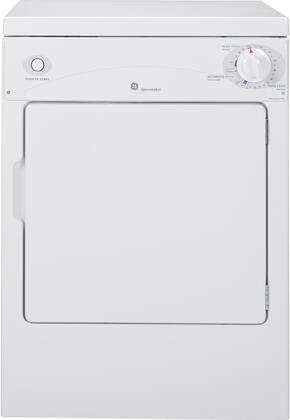 GE Spacemaker DSKP333ECWW Electric Dryer White, Main View