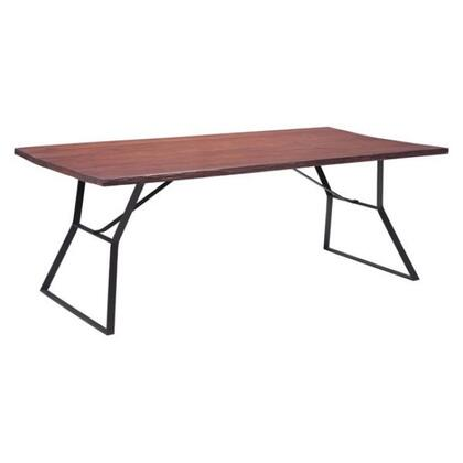 Distressed Black And Cherry Dining Set