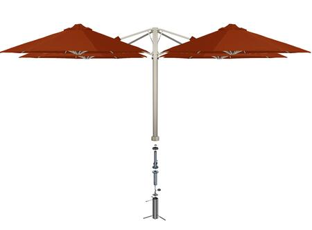 Shadowspec SU6 Series KITP6SQ30QTOGATCAA Outdoor Umbrella Red, Terracotta