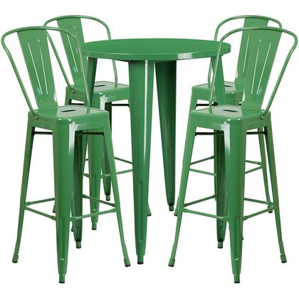 Flash Furniture CH51090BH CH51090BH430CAFEGNGG Outdoor Patio Set Green, CH 51090BH 4 30CAFE GN GG