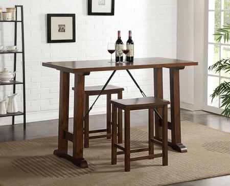 Acme Furniture Filbert 72070 Bar Table Set Brown, 1