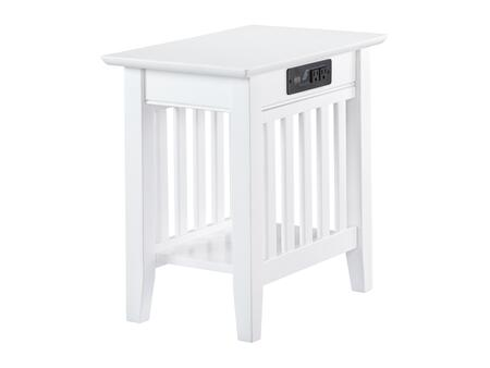 Atlantic Furniture Mission AH13212 End Table White, AH13212 SILO 30