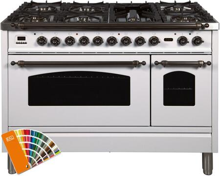 UPN120FDMPRALYLP 48″ Nostalgie Series Dual Fuel Liquid Propane Range with 7 Sealed Burners  5 cu. ft. Total Capacity True Convection Oven  Griddle