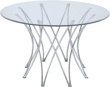 Coaster Cabianca 106921DT Dining Room Table Silver, Main Image