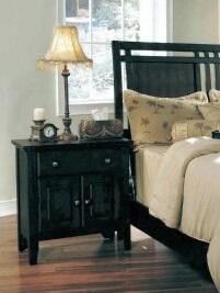 Myco Furniture Nicolette NC9003N Nightstand Black, 1
