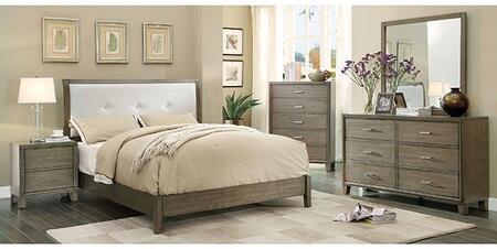 Furniture of America Enrico I CM7068GYCKBDMCN Bedroom Set Gray, Main Image