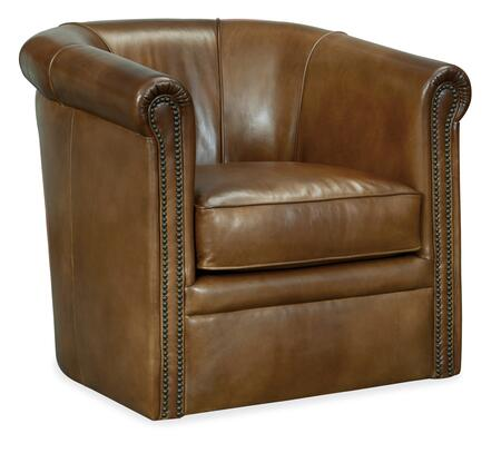 Hooker Furniture CC Series CC388SW083 Accent Chair Brown, Silo Image