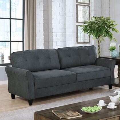 Furniture of America Alissa CM6213GYSF Stationary Sofa Gray, cm6213gy sf 1