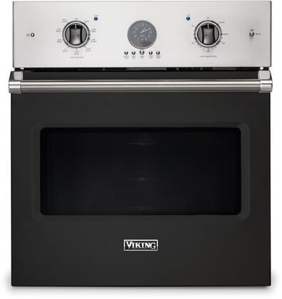 Viking 5 Series VSOE527BK Single Wall Oven Black, Front View