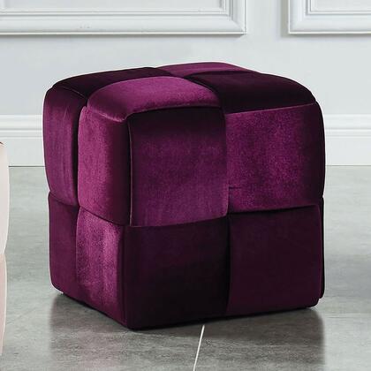 Furniture of America Estito CMOT5661PR Living Room Ottoman, Main Image