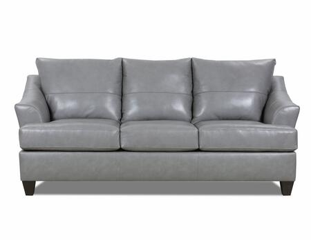 Carlisle Collection 2063-03SOFTTOUCHSILVER 86″ Sofa with Removable Seat Cushions  Flared Arms  Made in USA  Hardwood Lumber Construction and Top