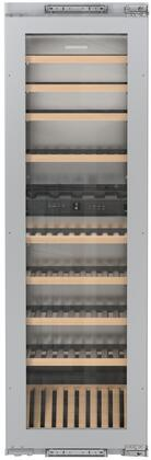 Liebherr HW8000 24 Inch Built-In Dual Zone Wine Cooler with 80 Bottle Capacity,in Panel Ready