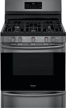 Frigidaire Gallery GCRG3060AD Freestanding Gas Range Black Stainless Steel, Main Image