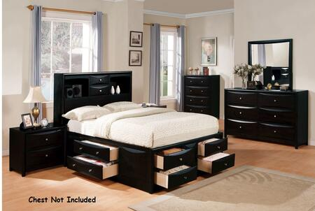 Acme Furniture Manhattan 14102CKDM2N Bedroom Set Black, 1