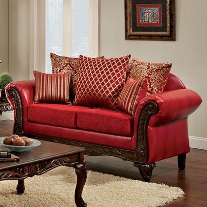 Furniture of America Marcus SM7640LV Loveseat Red, Main Image