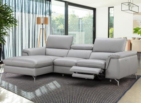 J and M Furniture Serena 18234XHFC Sectional Sofa Gray, 1