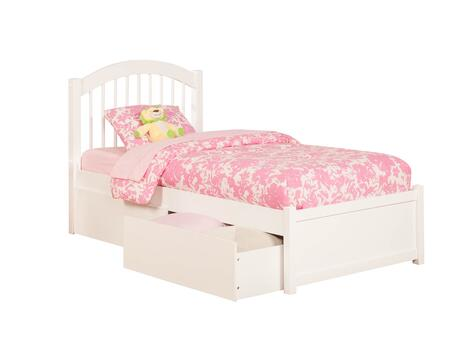 Atlantic Furniture Windsor AP9422112 Bed White, AP9422112 SILO BD2 30