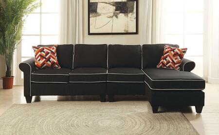 Acme Furniture Kelliava 5424043 Sectional Sofa Black, 1