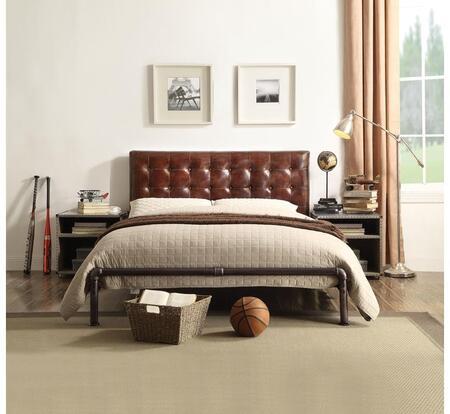 Acme Furniture Brancaster 26210QSET Bedroom Set Brown, 3 PC Set