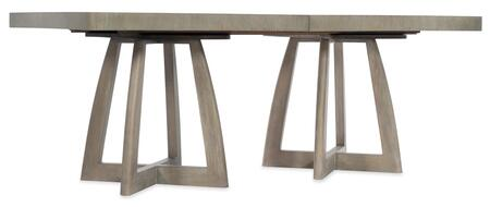 Hooker Furniture Affinity 605075206GRY Dining Room Table, Silo Image