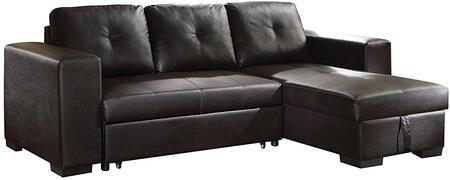Acme Furniture Lloyd 53345 Sectional Sofa Black, 1