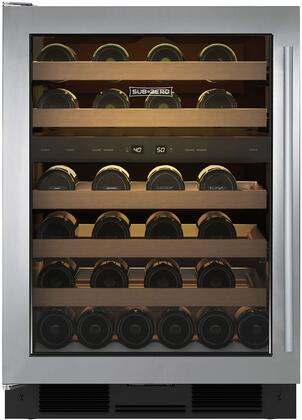 Sub-Zero  UW24STHLH Wine Cooler 26-50 Bottles Stainless Steel, Main Image