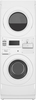 Whirlpool  CET9000GQ Commercial Stacked Washer and Dryer White, Main Image
