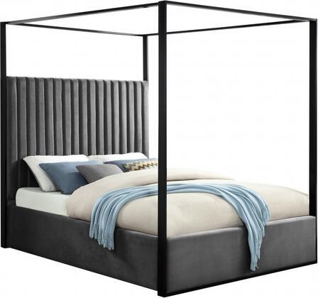 Meridian Jax Series JAXGREYK Bed Gray, JAXGREYK Main Image
