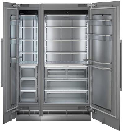 54″ Side By Side Column Refrigerator & Freezer Set with MRB3600 36″ Right Hinge Refrigerator and MF1851 18″ Left Hinge Freezer in Panel