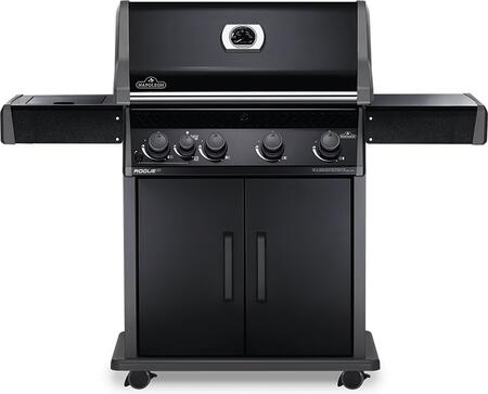 RXT525SIBNK-1 61″ Rogue Series XT 525 SIB Natural Gas Freestanding Grill with 57000 BTU  805 sq. in. Cooking Area  Infrared Side Burner and Cast Iron