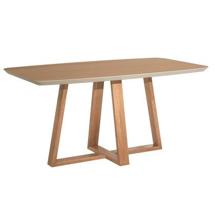 Duffy Collection 1018451 Dining Table with Contemporary Modern Style  Medium-Density Fiberboard (MDF) Frame and Solid Pine Wood Feet in Matte